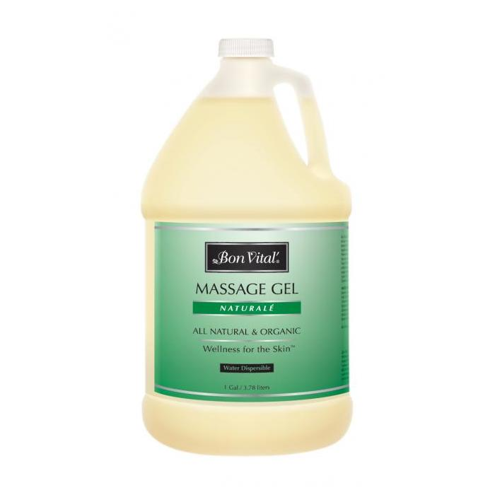 Bon Vital Naturale Massage Gel 1 Gallon - <font size =4><BR>100% all natural ingredients!</font>