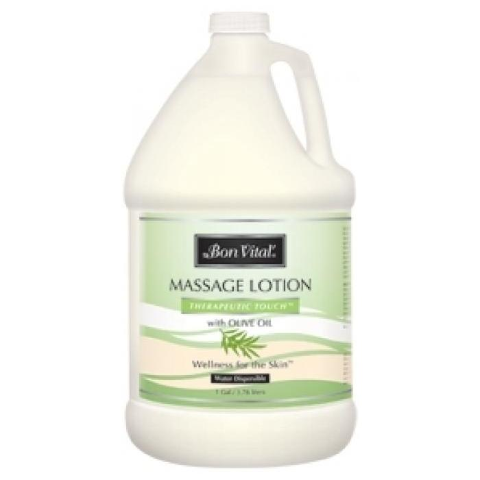 Bon Vital Therapeutic Touch Massage Lotion 1 Gallon Bottle - Its All About the Olive!