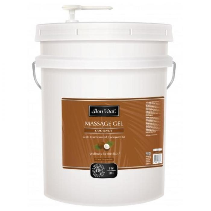 Bon Vital Coconut Massage Gel 5 Gallon - Unscented and Paraben FREE!