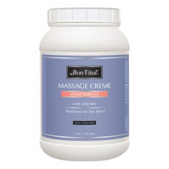 Bon Vital Deep Tissue Massage Creme 1 Gallon - Jojoba oil based Deep Tissue massage creme from Bon Vital.